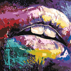 Губы Раскраска картина по номерам на холсте RO122