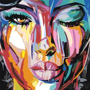 Воздушный поцелуй Раскраска картина по номерам на холсте RO124