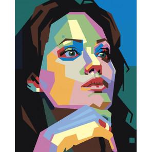 Цветной портрет незнакомки Раскраска по номерам на холсте Живопись по номерам PA172