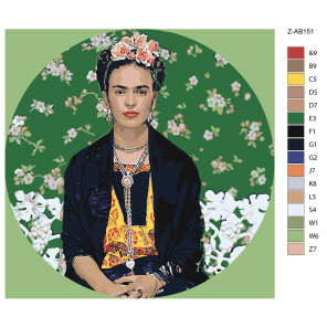 Макет Созревшие цветы Раскраска картина по номерам на холсте Z-AB151