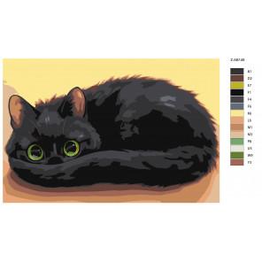 Макет Темное чудо Раскраска картина по номерам на холсте Z-AB149