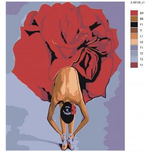 Макет Цветочный поклон Раскраска картина по номерам на холсте Z-AB126