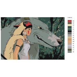 Макет В чаще леса Раскраска картина по номерам на холсте Z-AB133