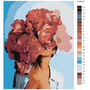 Макет Огненный цвет Раскраска картина по номерам на холсте Z-AB137
