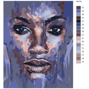 Макет Погружение Раскраска картина по номерам на холсте PA174