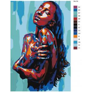 Макет Спящая красавица Раскраска картина по номерам на холсте PA179