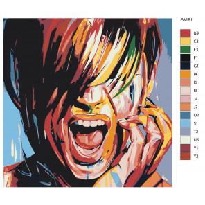Макет Красочный крик Раскраска картина по номерам на холсте PA181