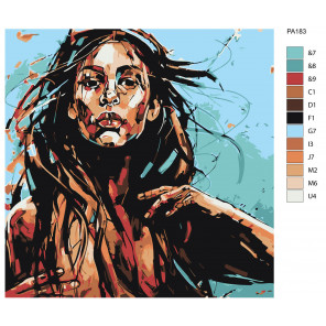 Макет Стальная леди Раскраска картина по номерам на холсте PA183