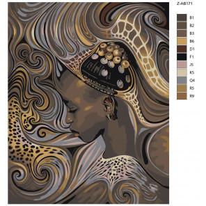 Макет Причудливый сон Раскраска картина по номерам на холсте Z-AB171