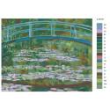 Макет Мост и кувшинки Раскраска картина по номерам на холсте Z-AB181