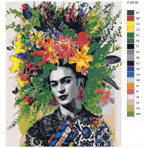 Макет Цветочная шляпка Раскраска картина по номерам на холсте Z-AB185