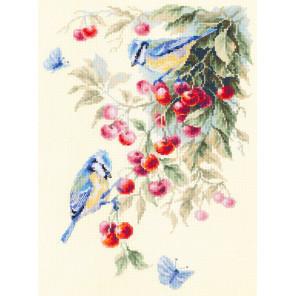 Синицы и вишня Набор для вышивания Чудесная игла 130-021