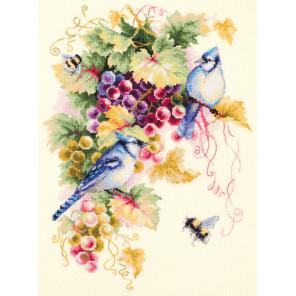 Сойки и виноград Набор для вышивания Чудесная игла 130-022