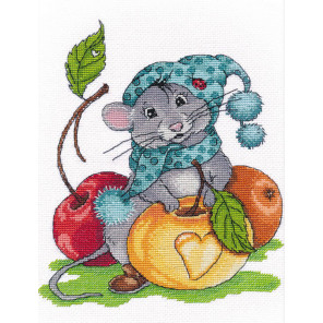 Запасливый мышонок Набор для вышивания Овен 1224