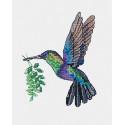 Радужная птичка Набор для вышивания на водорастворимой канве Овен 1227