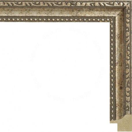 Декоративное золото с полоской Рамка для картины на картоне