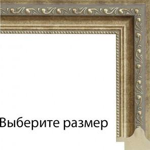 Выберите размер Завитки с широкой декоративной полоской Рамка для картины на холсте N138