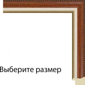 Выберите размер Имитация шпона с кремовой и золотой полоской Рамка для картины на картоне
