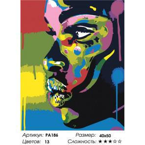 Макет Радужный лик Раскраска картина по номерам на холсте PA186