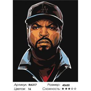 Макет Звезда хип-хопа Раскраска картина по номерам на холсте RA317