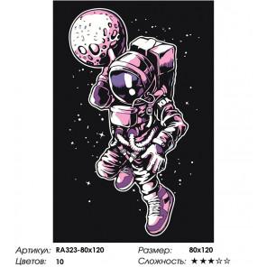 Сложность и количество цветов Космический спорт Раскраска картина по номерам на холсте RA323-80x120