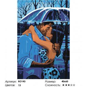 Макет Романтичный дождь Раскраска картина по номерам на холсте RO143