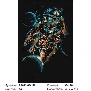 Сложность и количество цветов Вращение планет Раскраска картина по номерам на холсте RA319-80x120