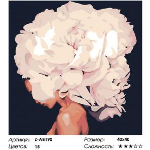 Макет Бурное цветение Раскраска картина по номерам на холсте Z-AB190