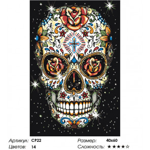 Макет Цветочный Раскраска картина по номерам на холсте CP22