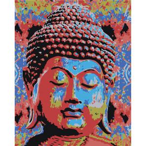 Радужный Будда Раскраска картина по номерам на холсте RA308-100x125