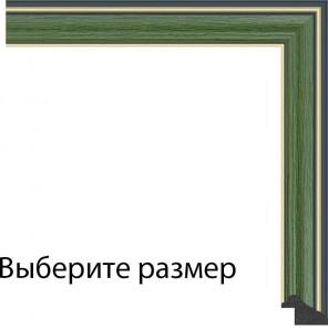Выберите размер Зеленая с декоративными полосами Рамка для картины на картоне N154
