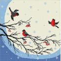 Снегири Ткань с рисунком Божья коровка 0003