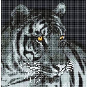 Пример оформления в рамку Тигр Ткань с рисунком Божья коровка 0010