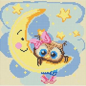 На луне Ткань с рисунком Божья коровка 0014