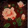 Чайная роза Ткань с рисунком Божья коровка 0024