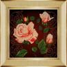 Пример оформления в рамку Чайная роза Ткань с рисунком Божья коровка 0024