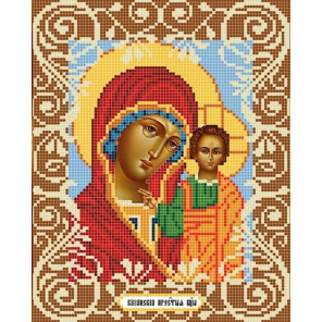 Богородица Казанская Ткань с рисунком Божья коровка 0033