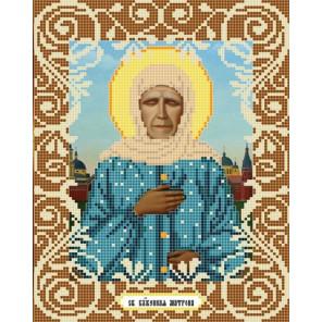 Святая Матрона Ткань с рисунком Божья коровка 0036