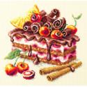 Вишневый торт Набор для вышивания Чудесная игла