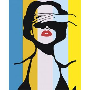 Красавица поп-арт Раскраска картина по номерам на холсте PA17