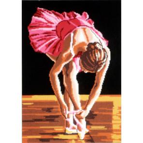 Юная балерина Канва жесткая с рисунком для вышивки Gobelin L 42