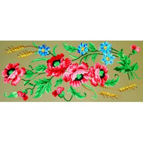 Маки и васильки Канва жесткая с рисунком для вышивки Gobelin L