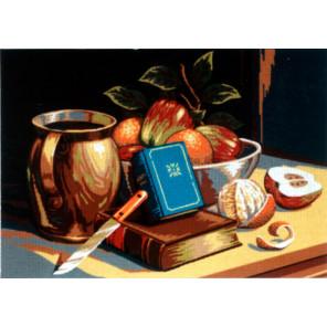 Натюрморт с книгами Канва жесткая с рисунком для вышивки Gobelin L