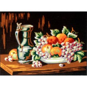 Канва жесткая с 2 рисунками Натюрморт с медным кувшином Канва жесткая с рисунком для вышивки Gobelin L