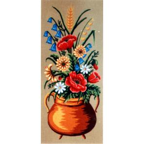 Полевые цветы, 2 картинки Канва жесткая с рисунком для вышивки Gobelin L