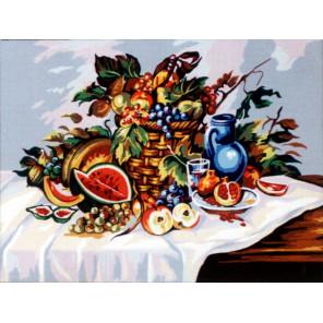 Натюрморт с арбузом Канва жесткая с рисунком для вышивки Gobelin L