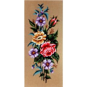 Розы и анемоны Канва жесткая с рисунком для вышивки Gobelin L