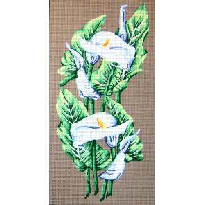 Каллы Канва жесткая с рисунком для вышивки Gobelin L