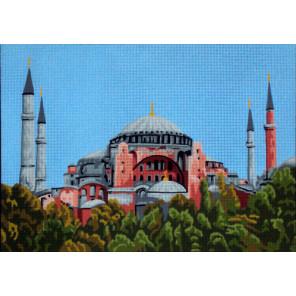 Голубая мечеть Канва жесткая с рисунком для вышивки Gobelin L