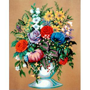 Букет в белой вазе Канва жесткая с рисунком для вышивки Gobelin L